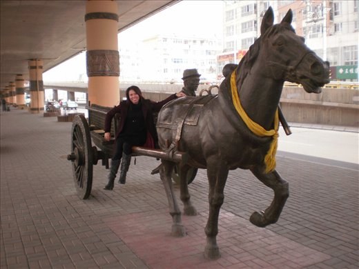 Statues in Xining