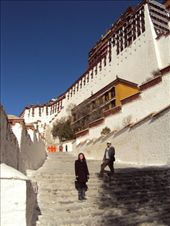 This is the first leg on the way to the top of Potala Palace. At thirteen stories built on top of a hill, there is bound to be a few stops on the way up to catch your breath: by bundynbeaches, Views[481]