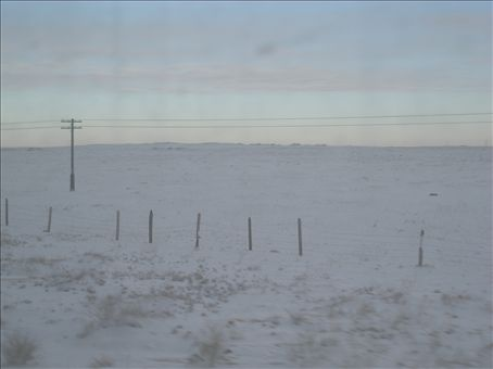 What we woke up to after the night border crossing into Mongolia.....a snowstorm