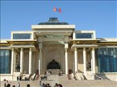Parliament House, Ulaan Baatar opening out on to Sukhbaatar Square : by bundynbeaches, Views[588]