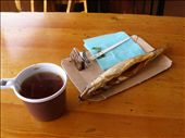 Hot tea and smoked omul for smoko. -20 something outside with a wind blowing. An hour later I got offered a ride back to Irkutsk with Anton then stayed with his crew and went to Olkhon Island,: by bundynbeaches, Views[570]