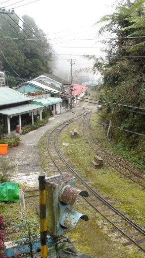 Shitzu Train station  on the Ali Shan tourist rail line closed down since the typhoon wiped out large sections of the track three years ago.