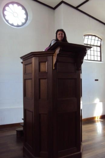 Rowie preaching