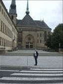 me outside the cathedral, Luxembourg: by busyliz, Views[215]