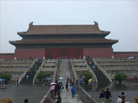 the Forbidden City...in the rain
