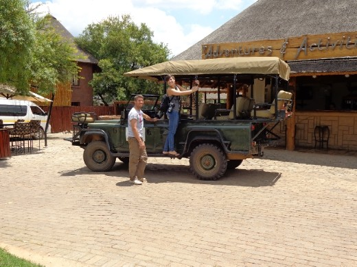 Zebula - Chris & Kristen en route to the elephants
