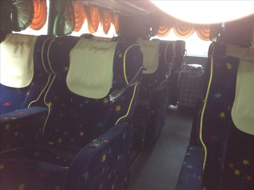 The whole bus has 'first class' seating - luxury