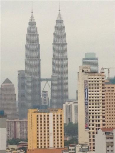 Kuala Lumpur skyline from my hotel window