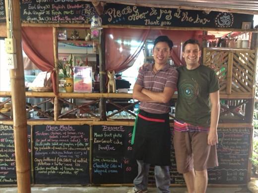 Anon, Mark & the menu @ Om Garden