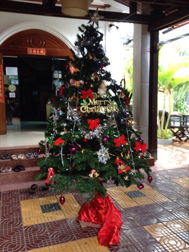 A Cambodian Christmas tree