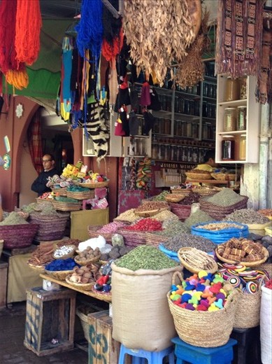 Colourful stall in the Marrakech Medina