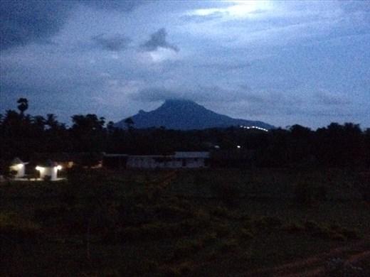 Mount Shiva under rain cloud