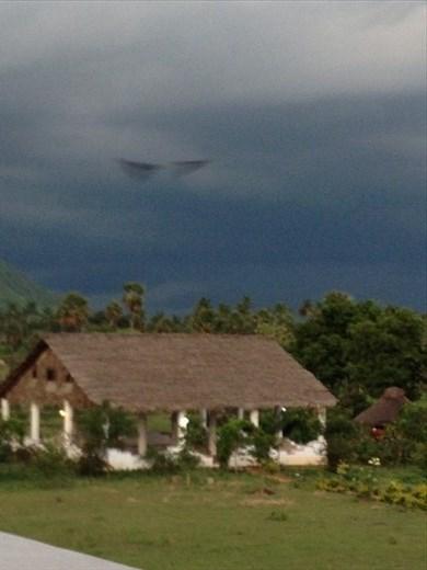 Impending storm over the yoga studio