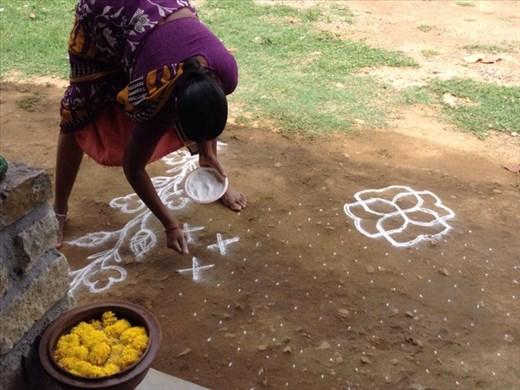 Rangoli taking shape