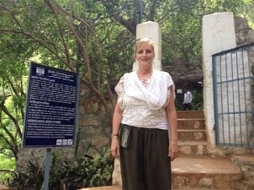 Me outside Virupakshi cave