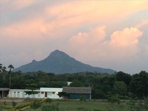 Fiery evening sky around Mt Shiva