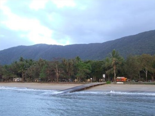 Our camp spot at Palm Cove