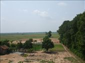 View of rice fields from Kampong Cham Center: by candace, Views[184]