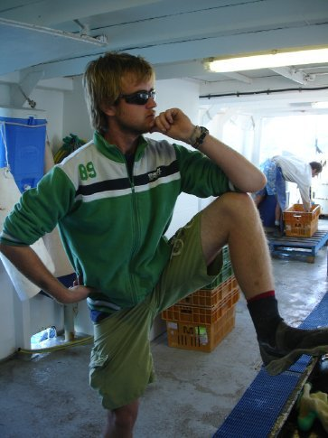 Mick, the deck chief. A more virile specimen of Australian man you will not find anywhere.
