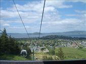 Cable car, Rotarua. You can see the Rotarua Lake in the background. The second largest on the North Island.: by candjmcshane, Views[146]