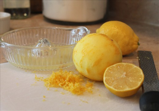 fresh lemon juice and zest are a must