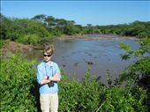 Me with the hippos and the crocs.  It was very hot that day and I was getting attacked by bugs...: by cape_bound, Views[282]