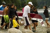 """By reviving canoe racing, the Tsleil-Waututh people hope to bring the Nation together. And more importantly, to engage their youth in their traditions. This year, kids as young as seven were introduced to the art of paddling by some of the Nation's best racers. For four months, veterans and newcomers gathered together five times a week to paddle. """"It feels like the community is coming together again,"""" says 13-year-old Meghan Ormandy. : by carlostello, Views[117]"""