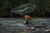 fishing works better in rainy days. Dusun fisherman from Borneo jungle.: by carolinacarrelli, Views[205]