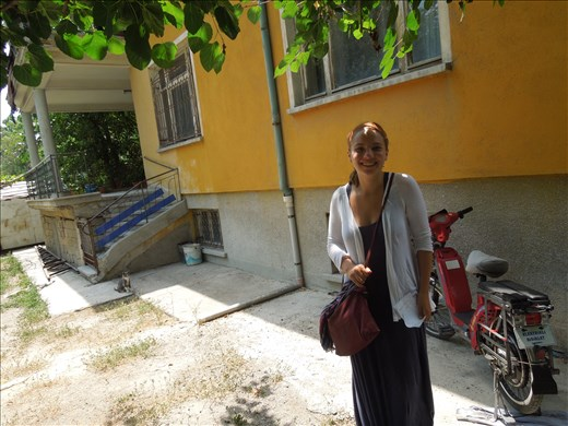 Me standing in front of my grandfather's house in Konya