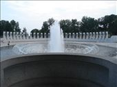 Cool waterfall and war memorial near reflection pond, Washington DC: by casey_hamilton, Views[415]