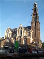 View of Westerkerk from the bench I was sitting at.: by casie, Views[158]
