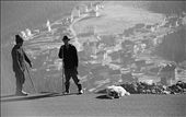 This photo includes the two shepherds ,their trusting dog and a back view of Ranca,a popular oversaturated mountain resort.No matter how much things change,or how much is being build ,tradition remains.: by catalinabusoi, Views[173]