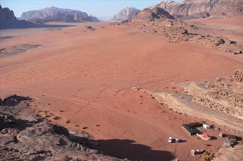 The wide open red spaces of Wadi Rum