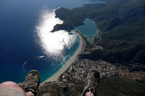 A birds eye view of Oludeniz