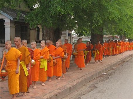 Morning Alms (feeding the monks), Luang Prabang.