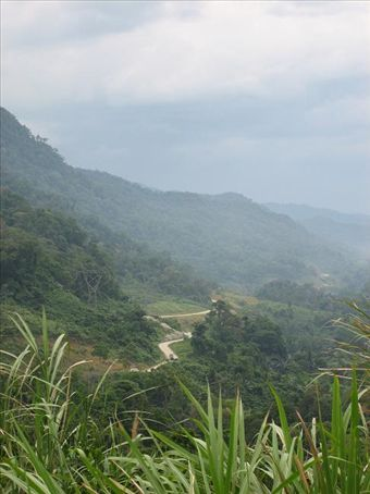 The jungle and mountains of the Ho Chi Minh Trail