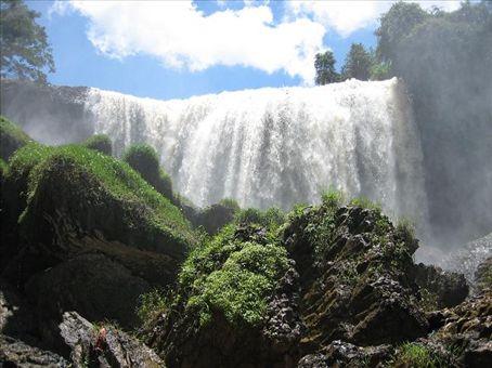 One of the many spectacular waterfalls near Dalat.