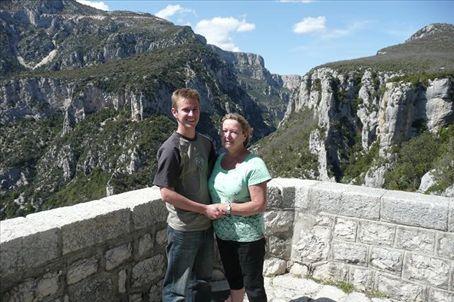 Mum and Me on the Balcons de la Mescla, Gorges du Verdon, Provence