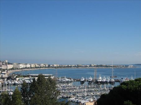 View of Cannes looking from the top of Le Suquet over to our home in Palm Beach