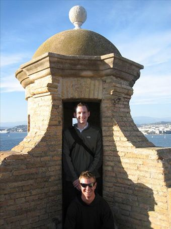 Dave and me in the fort on Ile St Margurite off the coast of Cannes