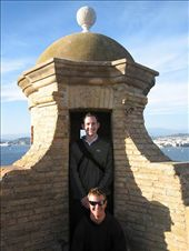 Dave and me in the fort on Ile St Margurite off the coast of Cannes: by catherine_and_james, Views[395]