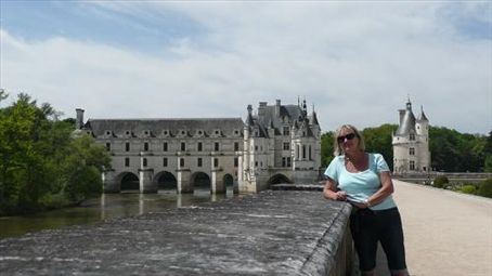 Kate at Chenonceau