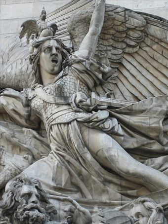 Winged Victory on the Arc de Triomphe