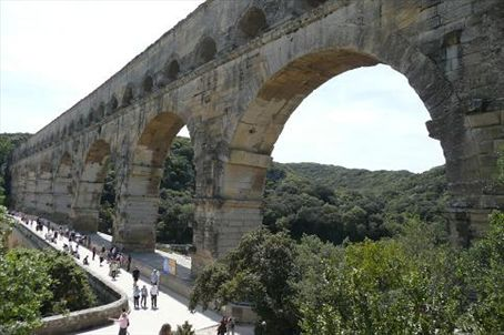 Pont du Gard - almost 2,000 years old. And those clever Romans managed to transport water along the top of it!