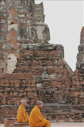 Two monks within the ruins of Ayutthaya, the ancient capital of Thailand: by cbrosen, Views[119]