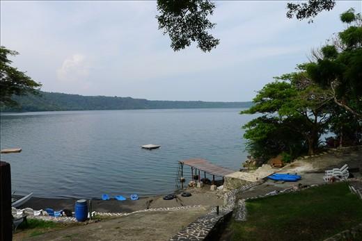 View from Monkey Hut across Laguna de Apoyo