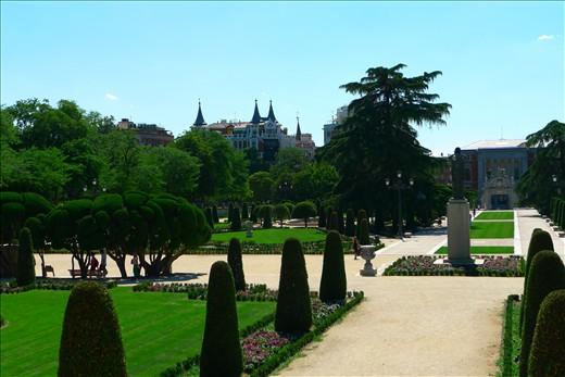 Gardens in Madrid