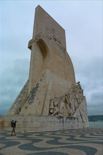 Huge sailing statue in Belem