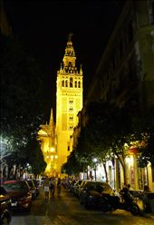 Seville at night - view from outside out hotel: by ccandj6monthsaway, Views[165]