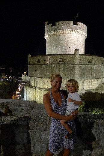 First night at the Old Town Wall - Dubrovnik